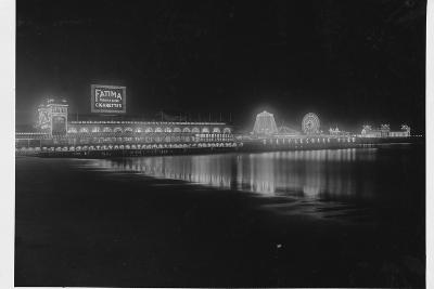 Steeplechase Pier at Night--Photographic Print