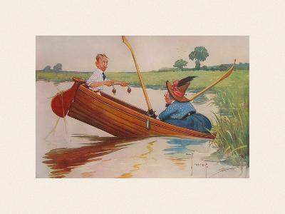 Steer Henry, You're the Coxswain!-Charles Crombie-Premium Giclee Print