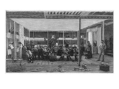 Steerage Passengers on Board an Atlantic Liner--Giclee Print
