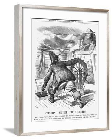 Steering under Difficulties, 1868-John Tenniel-Framed Giclee Print