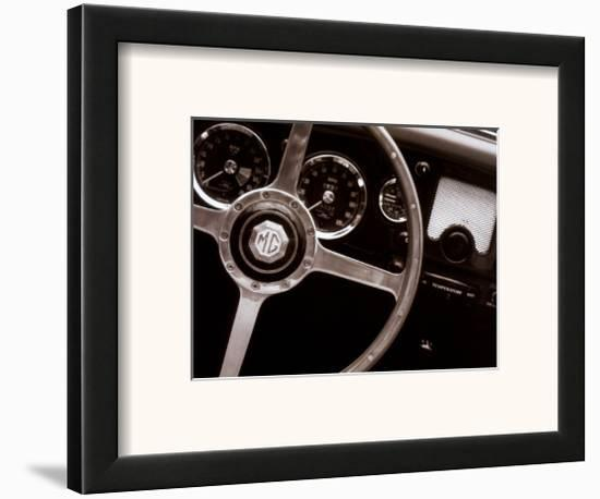Steering Wheel-John Maggiotto-Framed Art Print