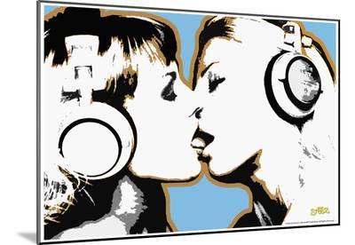 Steez Girls Kissing Art Poster Print--Mounted Print