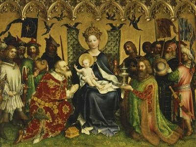 Adoration of Magi, Central Panel of Adoration of Magi Triptych, Circa 1445