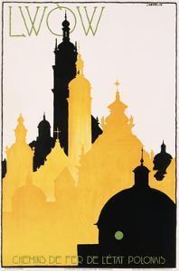 Lwow Poster by Stefan Norblin