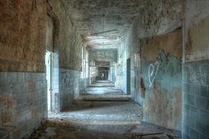 Corridor in an Abandoned Hospital in Beelitz by Stefan Schierle