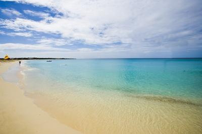 Landscape with Beach and Turquoise Sea, Meads Bay, Anguilla, Lesser Antilles