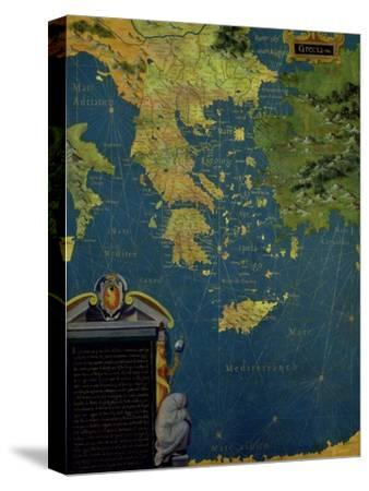 """Map of Sixteenth Century Greece, from the """"Sala Delle Carte Geografiche"""""""