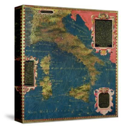 """Map of Sixteenth Century Italy, from the """"Sala Delle Carte Geografiche"""""""