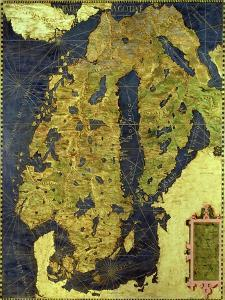 """Map of Sixteenth Century Scandinavia, from the """"Sala Delle Carte Geografiche"""" by Stefano And Danti Bonsignori"""