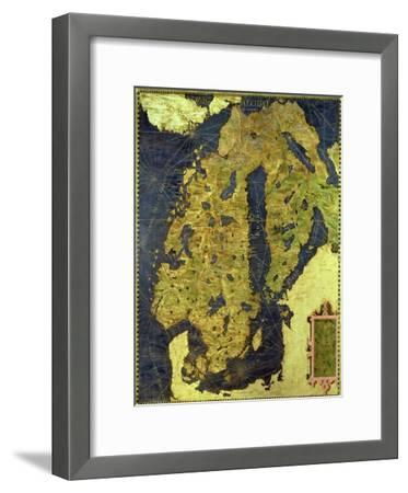"""Map of Sixteenth Century Scandinavia, from the """"Sala Delle Carte Geografiche"""""""