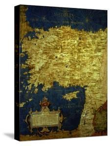 """Map of Sixteenth Century Turkey, from the """"Sala Delle Carte Geografiche"""" by Stefano And Danti Bonsignori"""
