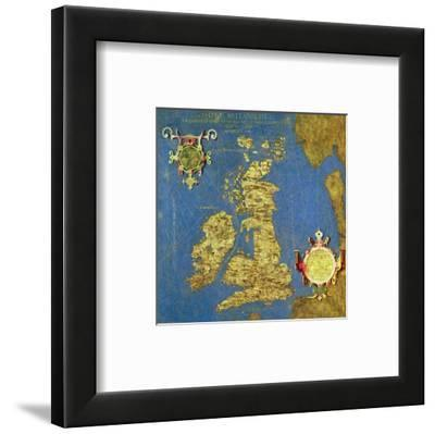 """Map of the Sixteenth Century British Isles, from the """"Sala Delle Carte Geografiche"""""""