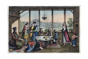 Banqueting Scene in Greece in 19Th Century by Stefano Bianchetti