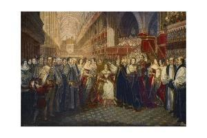 Coronation of Queen Victoria at Westminster Abbey, London on 28 by Stefano Bianchetti