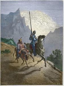 Don Quixote with Sancho Panza by Stefano Bianchetti