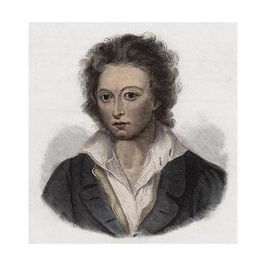 English Poet Percy Bysshe Shelley by Stefano Bianchetti