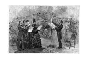 Illustration of Giuseppe Verdi Conducting a Performance of His Requiem Mass by Stefano Bianchetti