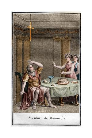 Illustration of the Sword of Damocles