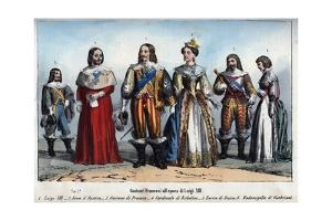 Louis XIII and Anne of Austria by Stefano Bianchetti
