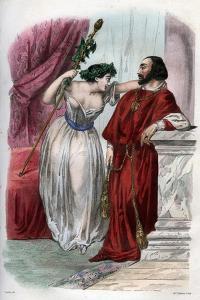 Lucrezia Borgia with Her Brother Cesare Borgia by Stefano Bianchetti