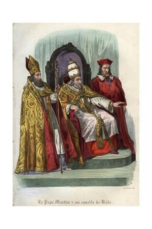 Pope Martin V at the Council of Basel 1431