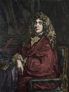 Portrait of Jean Baptiste Poquelin Moliere by Stefano Bianchetti