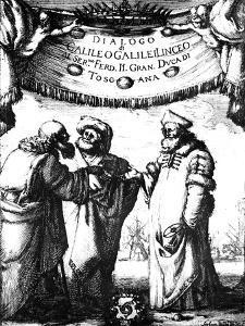 Frontispiece of Galileo's Dialogo Dei Massimi Sistemi, 1632 by Stefano Della Bella
