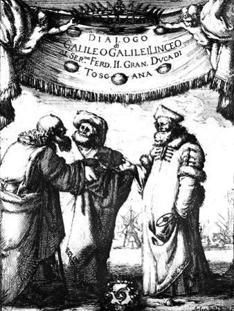 Frontispiece of Galileo's Dialogo Dei Massimi Sistemi, 1632