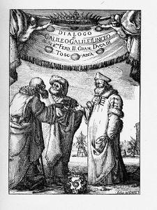 Frontispiece of the Dialogue Concerning the Two Chief World Systems by Galileo Galilei, 1632 by Stefano Della Bella
