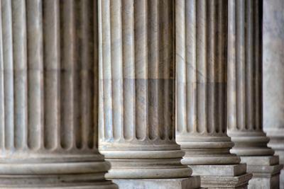 Colonnade in Rome close Up by stefano pellicciari