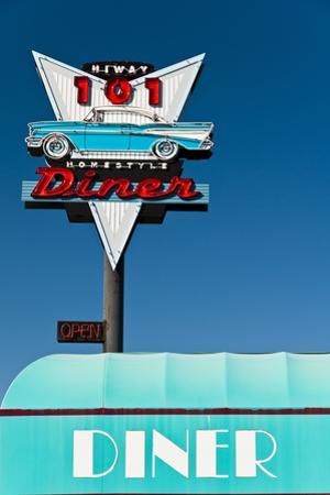 American Vintage Restaurant Neon Sign in the Olympic Peninsula, Washington, Usa by Stefano Politi Markovina