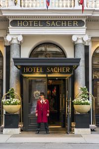 Entrance at Hotel Sacher, Vienna, Austria by Stefano Politi Markovina