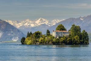 Isola Madre with Snowy Alps Behind, Lake Maggiore, Piedmont, Italy by Stefano Politi Markovina