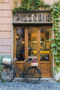 Pizzeria restaurant in Trastevere district, Rome, Lazio, Italy by Stefano Politi Markovina