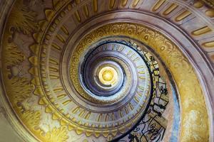 Staircase inside the Benedectine abbey, Melk, Lower Austria, Austria by Stefano Politi Markovina