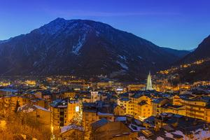 Winter View at Dusk over Andorra La Vella, Andorra by Stefano Politi Markovina