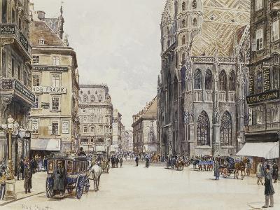 Stefansplatz, Vienna-Rudolf Bernt-Giclee Print