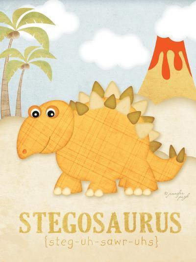 Stegosaurus-Jennifer Pugh-Art Print