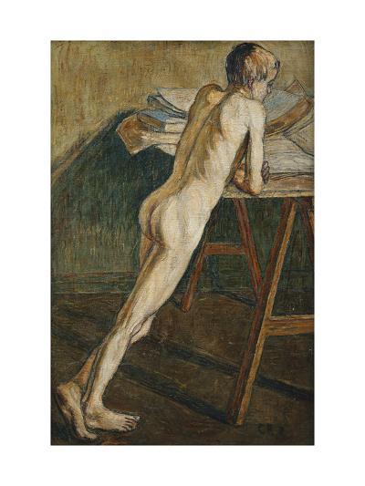 Stehender Knabenakt (Knabenakt), 1907-Christian Rohlfs-Giclee Print