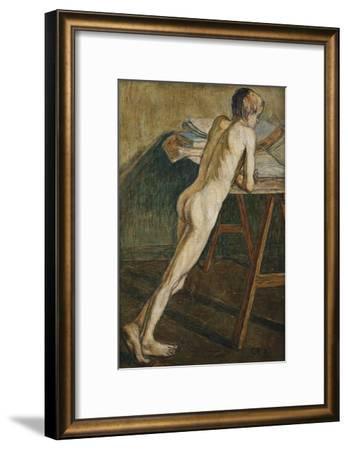 Stehender Knabenakt (Knabenakt), 1907-Christian Rohlfs-Framed Giclee Print