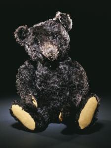 A Rare Black Steiff Teddy Bear with Rich Black Curly Mohair, circa 1912 by Steiff