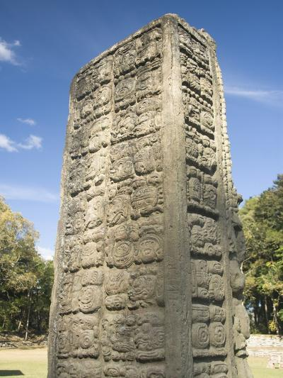 Stela A Dating From 731 AD, Copan Archaeological Park, UNESCO World Heritage Site, Honduras-Richard Maschmeyer-Photographic Print