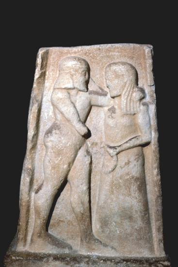 Stela of Menalaus and Helen (of Troy), Archaic Greek, c8th century BC-c5th century BC-Unknown-Giclee Print