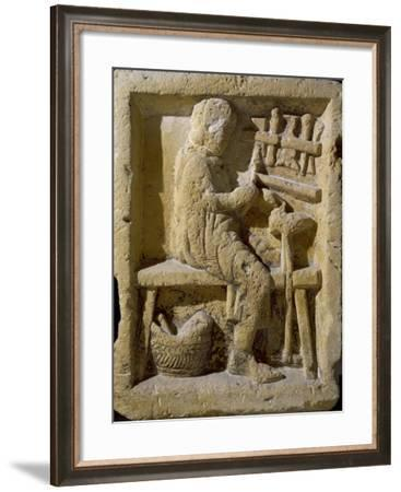 Stele Depicting Clog Maker, from Reims, Champagne-Ardenne, France. Gallo-Roman Civilization--Framed Giclee Print