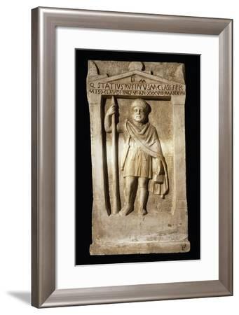 Stele for Sailor Statius Rufino, Soldier from Misenum Fleet--Framed Giclee Print
