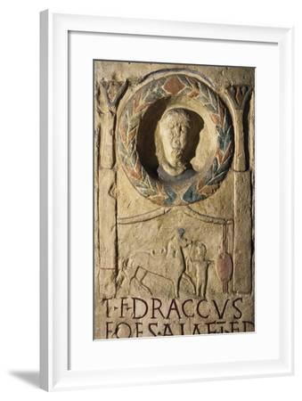 Stele for Titus Flavius Draccus--Framed Giclee Print