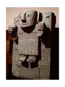 Stele from Tiahuanaco Showing Viracocha, the 'staff God', a Celestial Creation Deity