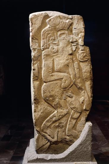 Stele of Dancers, Artifact Originating from Monte Alban--Giclee Print