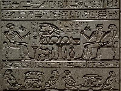 Stele of Sembi, Prison Scribe, Detail--Giclee Print