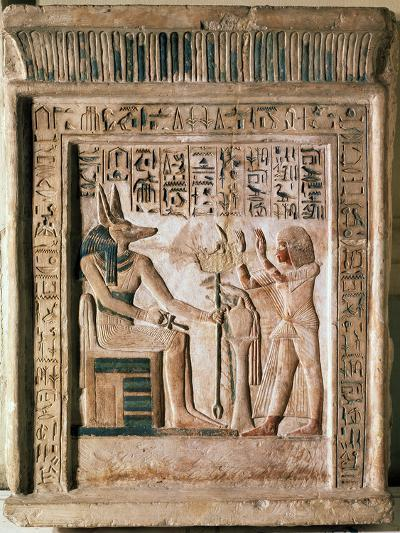 Stele of the Royal Scribe Ipi, Middle of the 14th Century Bc--Photographic Print